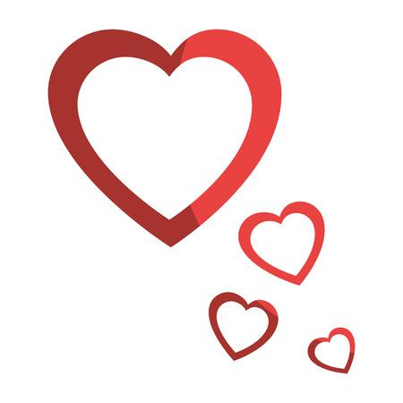 Corazones y el amor icono de la decoración ilustración vectorial diseño gráfico