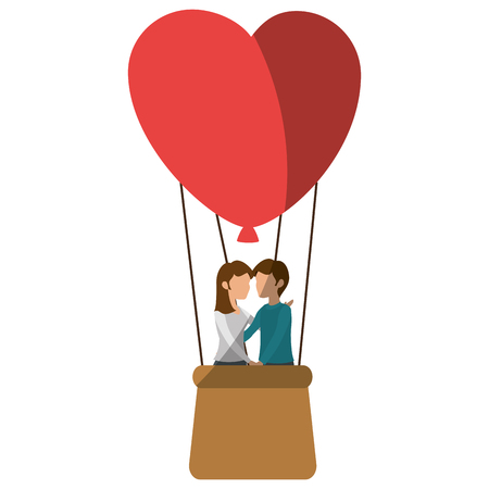 hot couple: Beautiful and romantic couple icon vector illustration graphic design