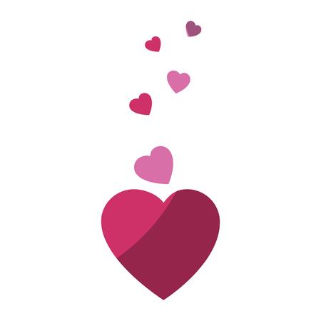 Hearts and love decoration icon vector illustration graphic design Illustration