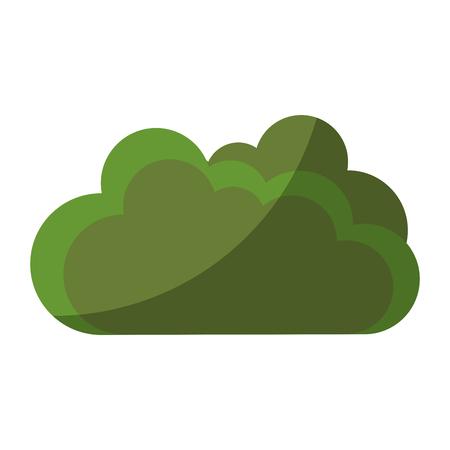 Bush garden isolated icon vector illustration graphic design
