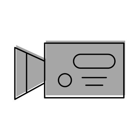 ビデオカメラのアイコン ベクトル イラスト デザインを分離しました。