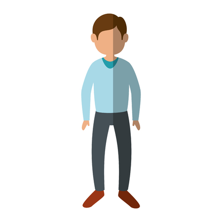 Young man cartoon icon vector illustration graphic design 向量圖像