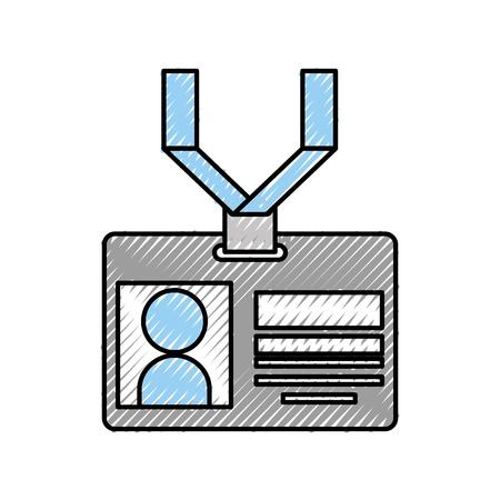 safety card press icon vector illustration design