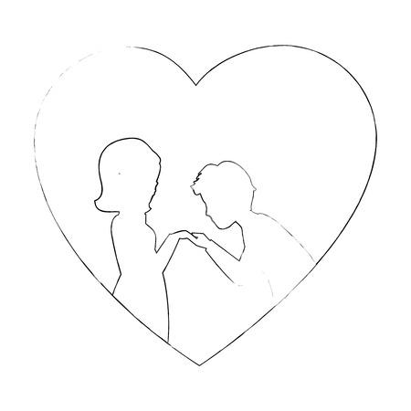 Beautiful and romantic couple icon vector illustration graphic design Stock Vector - 81635545