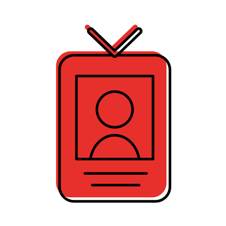 safety card press icon vector illustration design
