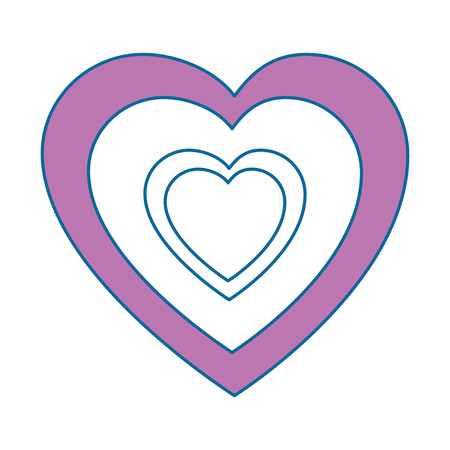 Corazones y el amor icono de la decoración ilustración vectorial diseño gráfico Ilustración de vector