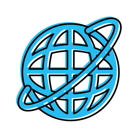 planet sphere isolated icon vector illustration design