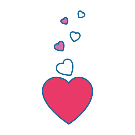 Hearts and love decoration icon vector illustration graphic design Иллюстрация