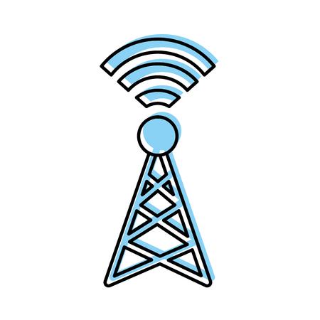 世界信号アンテナ アイコン ベクトル イラスト デザイン ファジィ