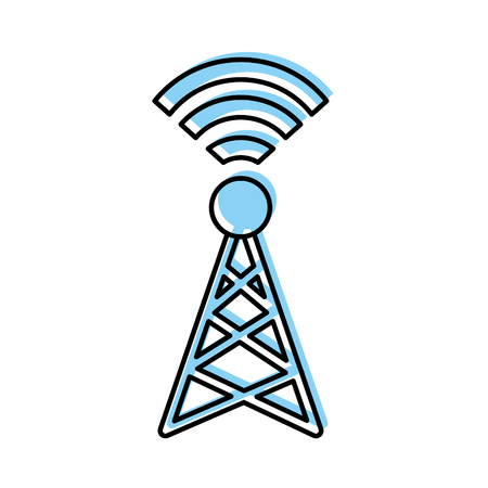 World signal antenna icon illustration vectorielle design floue Banque d'images - 81657619