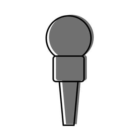 microphone communication device icon vector illustration design Stock Vector - 81657620