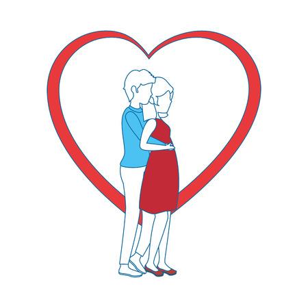 Beautiful and romantic couple icon vector illustration graphic design Фото со стока - 81642902