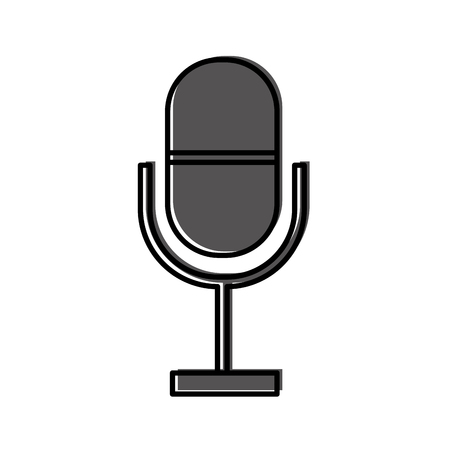 microphone communication device icon vector illustration design