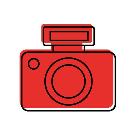 Professionele schaduw van het de illustratieontwerp van de digitale camerapictogram Stock Illustratie