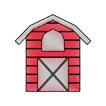 farm stable building icon vector illustration design 向量圖像