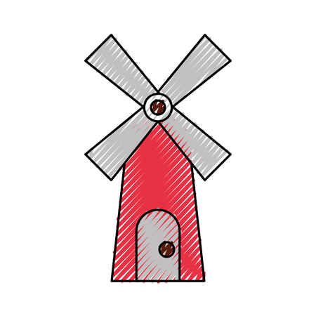 farm windmill isolated icon vector illustration design