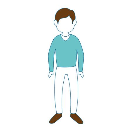 Young man cartoon icon vector illustration graphic design Иллюстрация