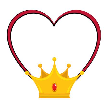 King crown luxury symbol icon vector illustration graphic design Ilustração