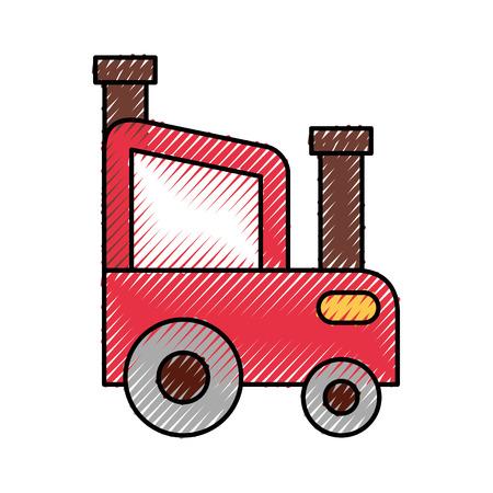 tractor farm isolated icon vector illustration design