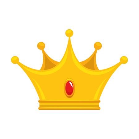 Diseño gráfico del ejemplo del vector del icono del símbolo del lujo de la corona del rey Foto de archivo - 81642925
