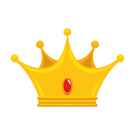 King crown luxury symbol icon vector illustration graphic design Illustration