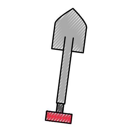 shovel tool isolated icon shovel tool isolated icon vector illustration design 向量圖像