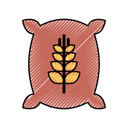 Sack of wheat icon vector illustration design