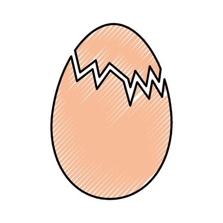 straw basket with eggs vector illustration design