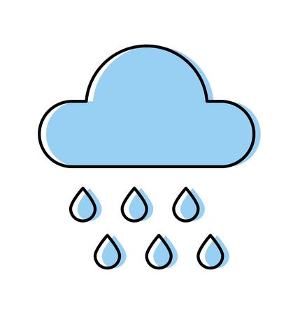 weather cloud rainy isolated icon vector illustration design Ilustrace