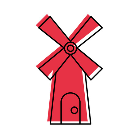 Boerderij windmolen geïsoleerd pictogram vector illustratie ontwerp