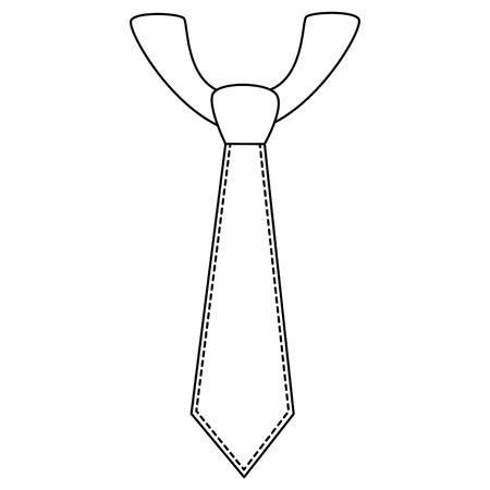Executive tie fashion icon vector illustration graphic design Illustration