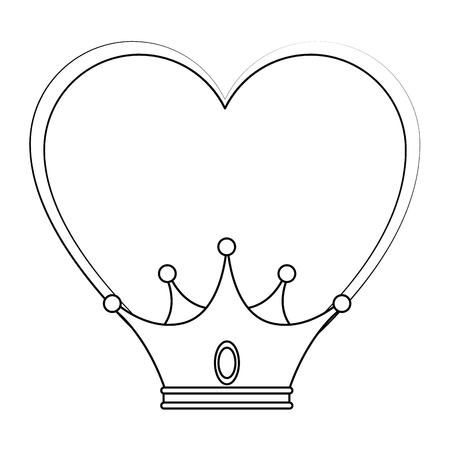 King crown lusso simbolo icona illustrazione vettoriale illustrazione grafica Archivio Fotografico - 81657698