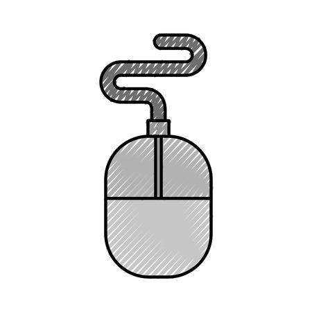 Computer accessory mouse icon vector illustration design graphic