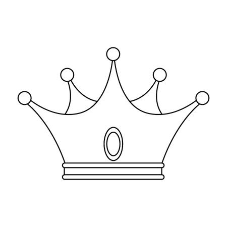 킹 크라운 럭셔리 기호 아이콘 벡터 일러스트 그래픽 디자인