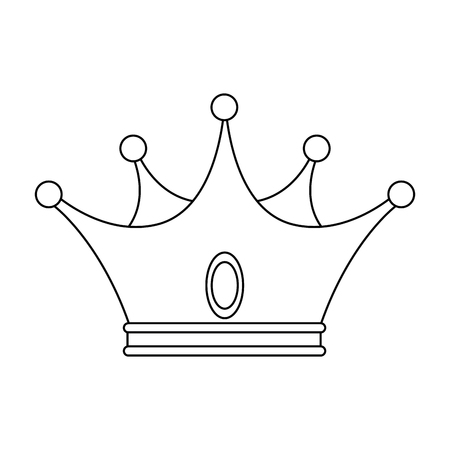 King crown luxury symbol icon vector illustration graphic design Ilustrace
