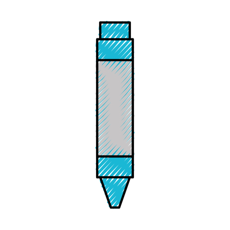Pencil writing instrument icon vector illustration design graphic Ilustração