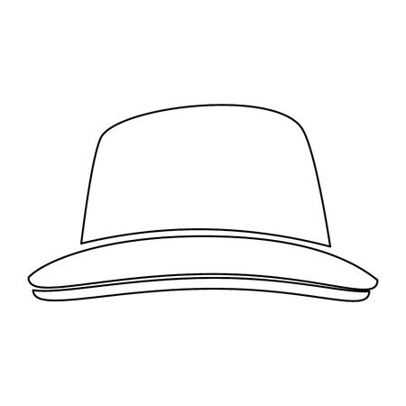 Vintage hat fashion icon vector illustration graphic design