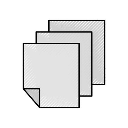 Grafico di progettazione dell'illustrazione di vettore dell'icona di informazioni di carta dei fogli Archivio Fotografico - 81642989
