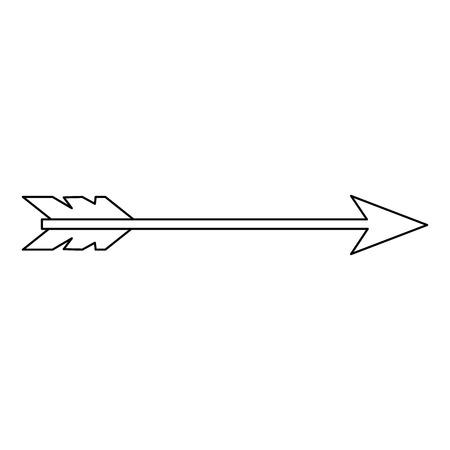 arrow icon over white background vector illustration Иллюстрация