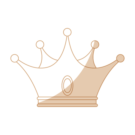 crown icon over white background vector illustration