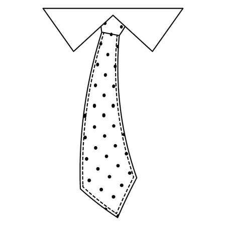 pointed tie accessory icon over white background vector illustration