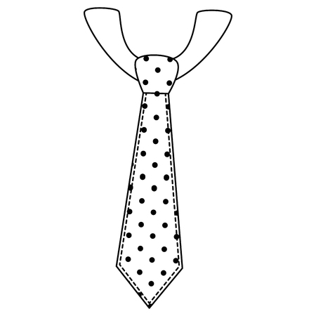 pointed tie accessory icon over white background vector illustration Stock Vector - 81657744