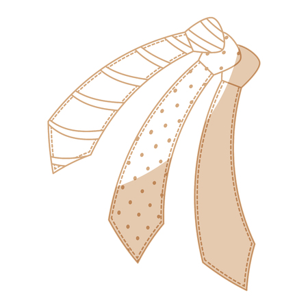 ties accessory icon over white background vector illustration Illustration