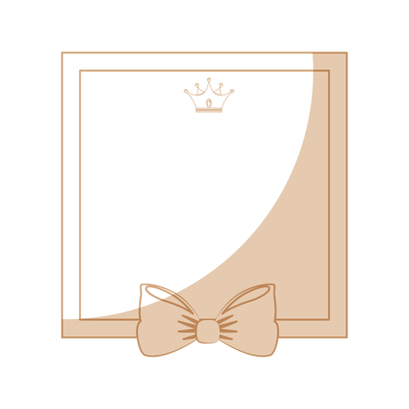 decorative frame with bow icon over white background vector illustration Stock Vector - 81657763