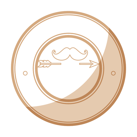 seal stamp with mustache icon over white background vector illustration Stok Fotoğraf - 81657765
