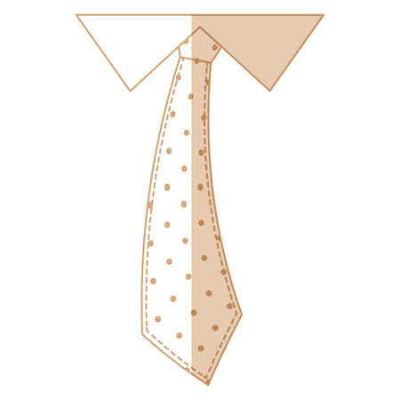 colourful tie: pointed tie accessory icon over white background vector illustration