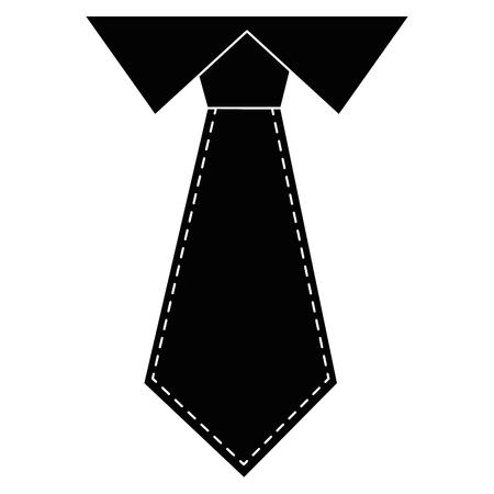 tie icon over white background vector illustration Illustration