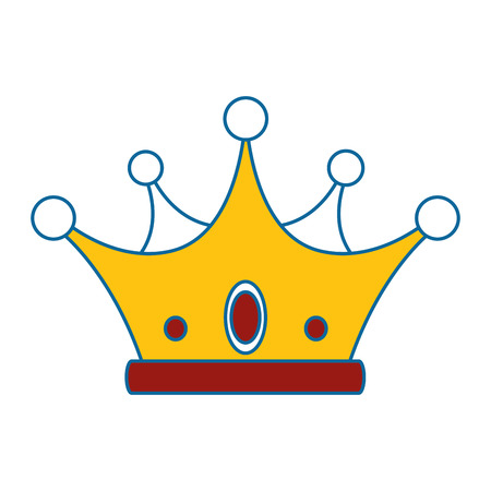 crown icon over white background colorful design  vector illustration Reklamní fotografie - 81643255