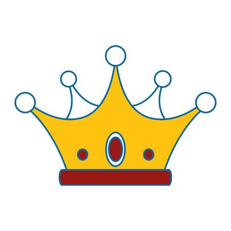 Icono de corona sobre fondo blanco ilustración vectorial de diseño colorido Foto de archivo - 81643255