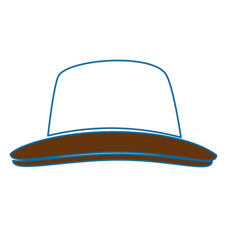 hat icon over white background colorful design vector illustration